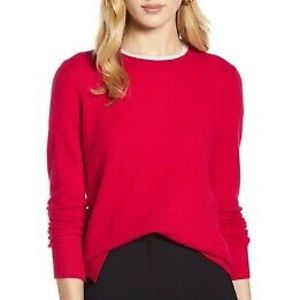 Halogen Bright Red Zip Cashmere Sweater X Small